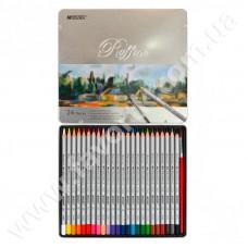 Набір олівців MARKO 24 кольори в металевій коробці 3100-24TN