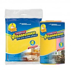 """Серветки для прибирання віскозні """"Фламенко"""" 5шт"""