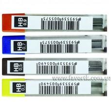 Стержень для механічного олівця K-I-N 0.7х60мм НВ 12шт.