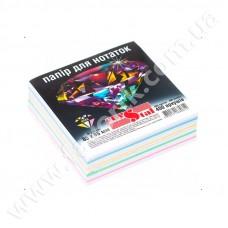 Папір для нотаток 85*85мм 400арк кольоровий не клеєний CRYSTAL