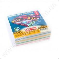 Папір для нотаток 85*85мм 400арк кольоровий клеєний CRYSTAL