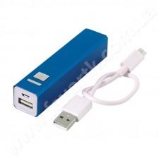 Power Bank 2200 mAh, синій