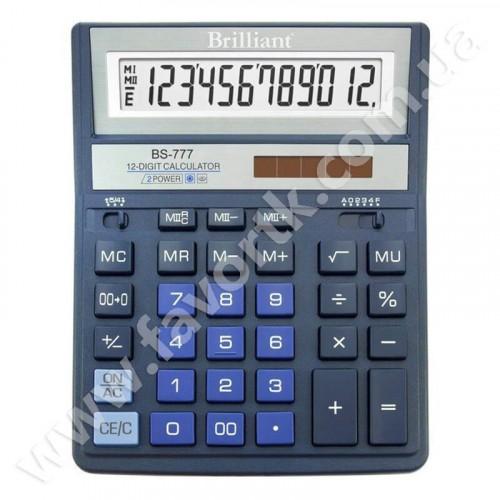 Калькулятор  Brilliant BS-777M синій