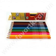 """Набір олівців """"Extra Soft""""  18 кольорів, трикутні CF15144"""