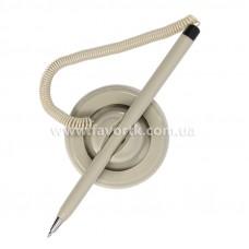 Ручка кулькова на підставці Economix POST PEN 0.5мм. Корпус сірий, пише синім.