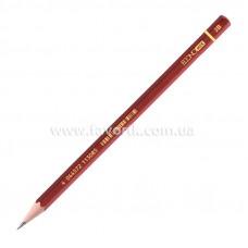 Олівець графітний Economix 2В, корпус бордо