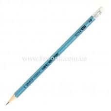 Олівець графітний Economix METALLIC HB з гумкою