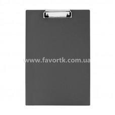 Папка-планшет з притиском А4 Economix, ПВХ чорна