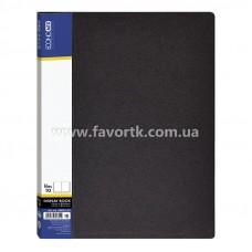 Папка А4 з 10 файлами Economix чорна