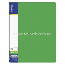 Папка А4 з 10 файлами Economix зелена