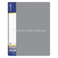 Папка А4 з 10 файлами Economix сіра