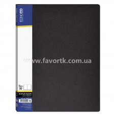 Папка А4 з 20 файлами Economix чорна