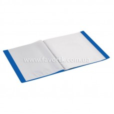 Папка А4 з 20 файлами Economix синя