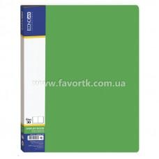 Папка А4 з 30 файлами Economix зелена