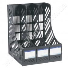 Лоток вертикальний збірний на 3 відділення Economix  чорний
