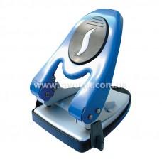 Дірокол 60арк  Economix металевий з лінійкою синій