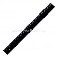 Лінійка 30см пластикова чорна
