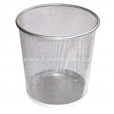 Кошик для сміття металевий, колір срібний