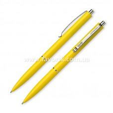 Ручка кулькова автоматична SCHNEIDER К15 корпус жовтий, пише синім