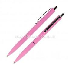 Ручка кулькова автоматична SCHNEIDER К15 корпус рожевий, пише синім