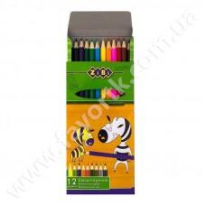 """Набір олівців """" PROTECT""""  12 кольорів  ZIBI"""