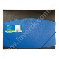 Папка А4 на гумках, синьо-чорна - BM 3910-02
