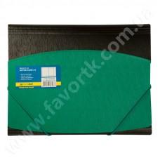 Папка А4 на гумках, зелено-чорна - BM 3910-04