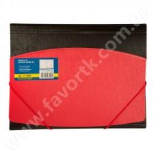 Папка А4 на гумках, червоно-чорна - BM 3910-05