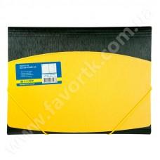 Папка А4 на гумках, жовто-чорна - BM 3910-08