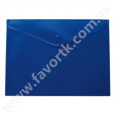 Папка-конверт А5 на кнопці, синя