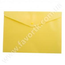 Папка-конверт А5 на кнопці, жовта